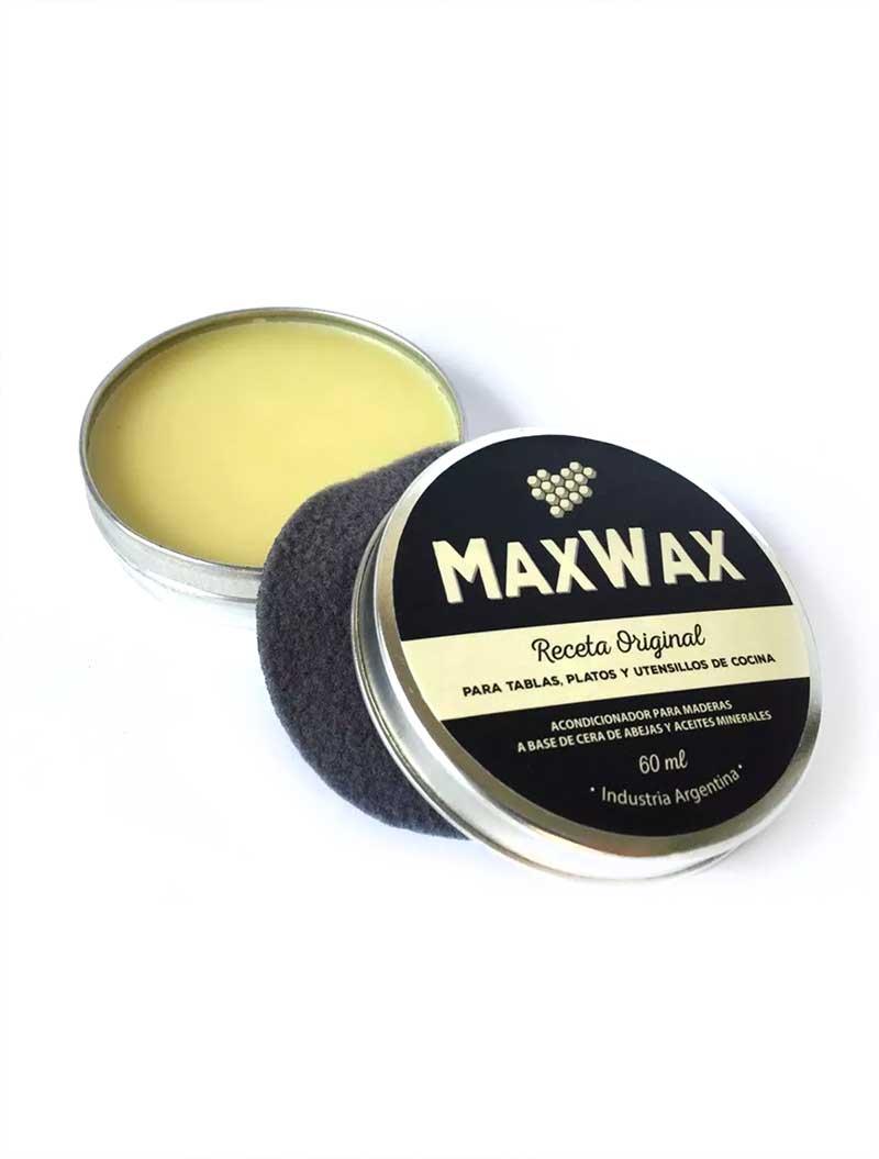 MaxWax - Acondicionador de Cera de abejas para tablas y platos de madera