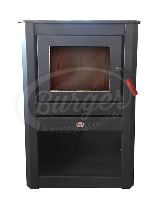 calefactor a leña mediano